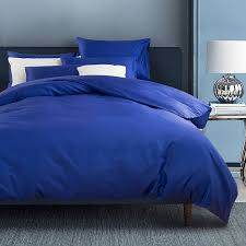 royal blue solid colored masculine traditional and simple shabby chic luxury soft 100 cotton damask full queen size bedding sets