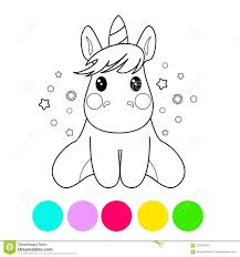 coloring page with unicorn for kids coloring book vector ilration