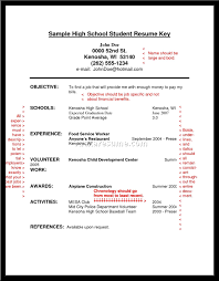 College Admissions Application Resume High School Sample For
