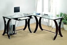 z line glass desk z line glass l shaped computer desk style z line designs trinity