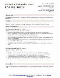 Mechanical Engineering Intern Resume Samples Qwikresume