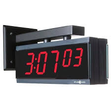 double sided wall clock double sided digital clock wall bracket pyramid time systems time clocks time