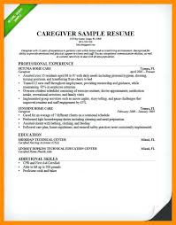 Caregiver Sample Resumes Caregiver Resume Sample Writing Guide