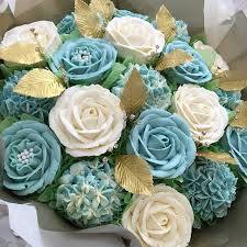 10 Wedding Flowers Blue With Cupcakes Photo Pretty Blue Flower