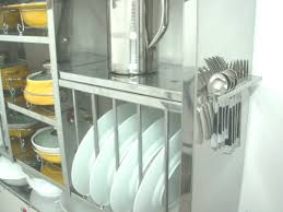 wall mounted stainlesss steel dish drying rack with spoon holders