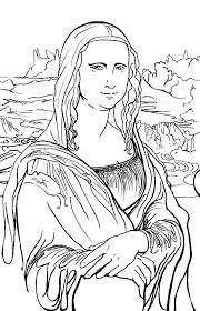 Mona Lisa Coloring Page New Mona Lisa Coloring Page 51 For Your