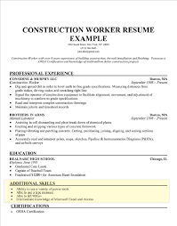Skills Section Resume Constuction Worker Sample Luxury How To Write