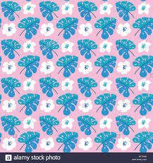 Vector Summer Seamless Pattern With Flat Flowers And