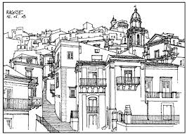 Free Coloring Page Coloring Architecture Village In France Drawing