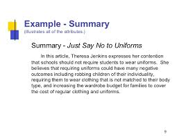 writing summaries example summary illustrates