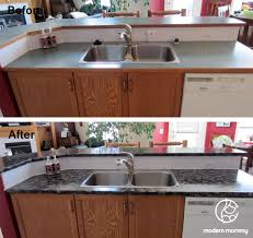 Kitchen Counter Top Paint Modern Mommy Home Diy Part 2 Granite Countertop Paint In The Kitchen