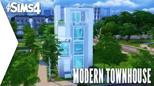 THE SIMS 4 SPEED BUILD #218 - MODERN TOWNHOUSE