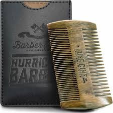 wooden beard comb dual side 100 natural sandalwood anti static mustache comb
