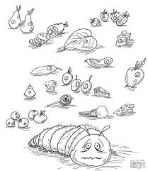 Very Hungry Caterpillar Coloring Pages The Line Drawing Coloring