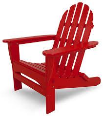 recycled plastic adirondack chairs. Amazon.com : POLYWOOD AD5030SR Classic Folding Adirondack, Sunset Red Adirondack Chairs Garden \u0026 Outdoor Recycled Plastic