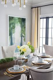 Yellow And Green Dining Room Accent Colors
