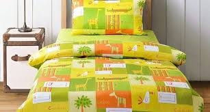 awesome orange and lime green bedding