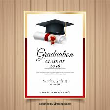 Graduation Announcements Template Elegant Graduation Invitation Template With Realistic Design
