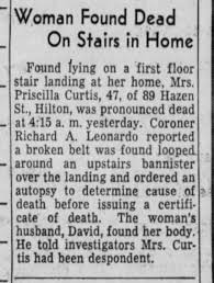 Death of Priscilla Curtis - Newspapers.com