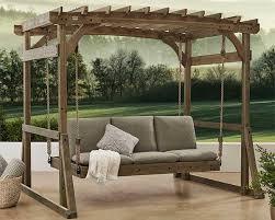 3 ways to use a pergola with a swing bed
