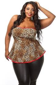 plus size tube tops this cute and edgy plus size top features a leopard print