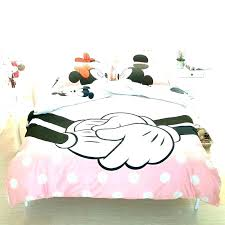 mickey and comforter set bedroom bedding minnie sets mouse kissing