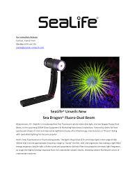 Sea Dragon 2300 Auto Light Sealife Unveils New Sea Dragon Fluoro Dual Manualzz Com