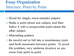 eng how to write compare and contrast essays essay organization structure point by point