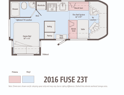 the winnebago fuse ignites winnebagolife fuse 23 t floorplan