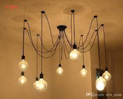 edison bulb lighting fixtures. Hanging Edison Bulbs Vintage Pendant Lamps Loft Retro Lights Creative Spider Lighting Fixture Bulb Fixtures