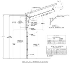 high follow roof pitch lift high follow roof pitch door track
