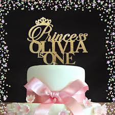 Princess Birthday Topper First Birthday Cake Topper Gold Etsy