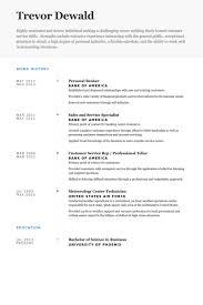 Personal Resume Samples