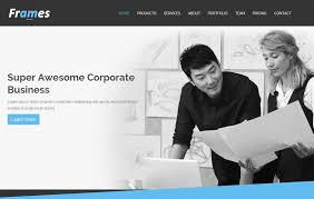 frames corporate free html5 template