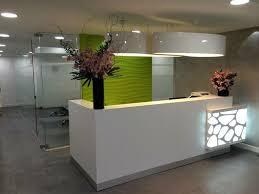 small reception desk design ideas best lighting for a salon