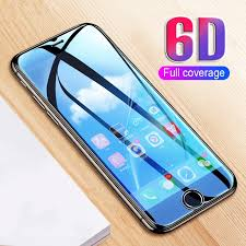<b>6D Curved Edge Protective</b> Glass on the For iPhone 7 8 6 6s Plus ...