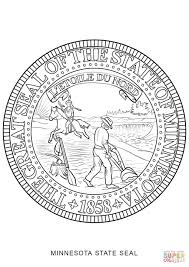 Small Picture Coloring Pages Animals Ohio State Seal Coloring Page Seal