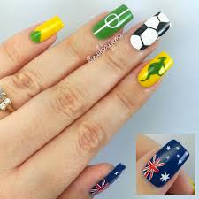 Nails By Jema: My Australia Nails For The Soccer!