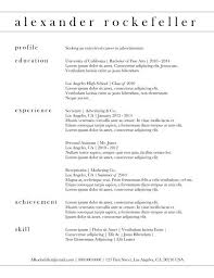 Classic Resume Templates Adorable Classic Resume Templates Teachengus