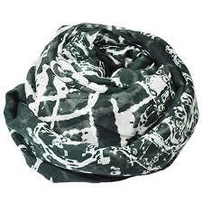 carrolls irish gifts exclusive celtic irish print dark green scarf with cream celtic design