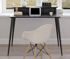 evanston black desk with riser