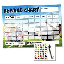 Football Reward Chart Sticker Star Chart Homework Chores