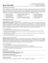 ... Splendid Hr Director Resume 6 Examples Of Human Resources ...