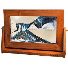 moving sand picture arctic glacier clear alder frame lg sand picture arctic glacier clear alder frame lg