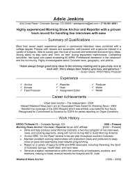 Correspondent Resume Custom Journalist Re Example Resumes Journalism Resume Examples