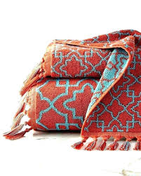 red bathroom rugs rug rust colored bath towels trellis hand towel at