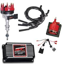 msd mustang ignition kit distrib coil wires controll l  msd ignition kit street fire distributor coil spark plug wires controller 5 0