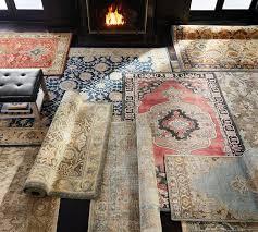 madeline rugs madeline persian rug blue multi pottery barn
