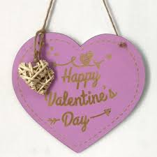 valentine s day laser engraving wood heart door decor wall hanging sign craft ornaments party decorations