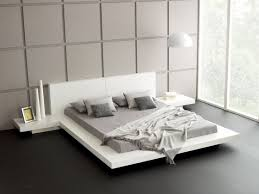 white modern platform bed. White Modern Japanese Style Platform Bed Frame With Floating Design B